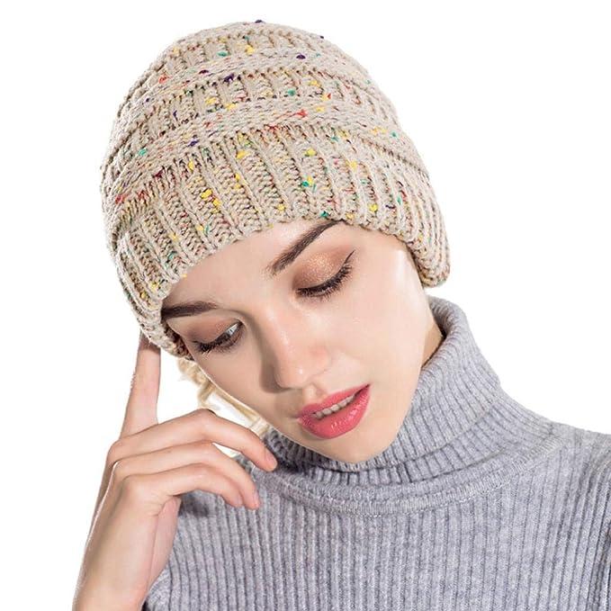 5b82ba8f709 Celucke Beanie Herren Frauen Strickmützen Caps Hüte Warm Ausgebeult Häkeln  Häkeln Winter Wolle Stricken Mützen  Amazon.de  Bekleidung