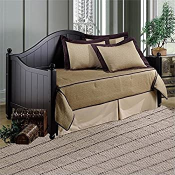 Bowery Hill Twin Wood Daybed in Black
