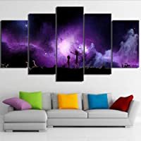 Fbhfbh Canvas Painting Wall Art Hd Prints 5 Pieces Rick And Morty Home Decoration Cartoon Modular Pictures For Kids Room Artwork Poster,12X16/24/32Inch,Without Frame