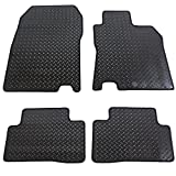JVL Fully Tailored 4 Piece Rubber Car Mat Set 2 Clips