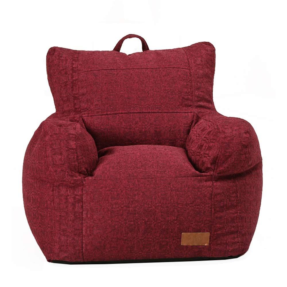 Fengbingl Bean Bag Sofa Seggiolone Confort Milano Bean con in Great for Any Room in Multiple Colores per Interni ed Esterni (colore   Rosso, Dimensione   65  70  70cm)