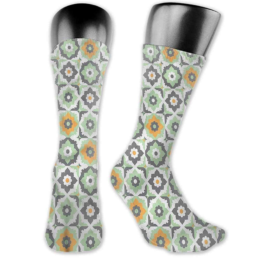 Korean Style Women Socks Quatrefoil,Edwardian Floral,socks for toddler boys non skid