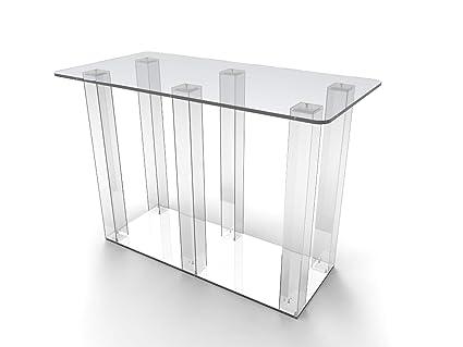 Amazon com: FixtureDisplays Clear Acrylic Dining Table
