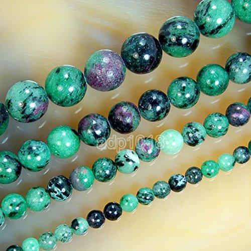 (Wholesale Smooth Natural Gemstone Round Loose Beads 15