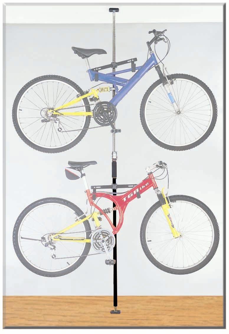 Amazon.com : Stoneman Sports DBR-9161-BK Sparehand Q-Rack Freestanding  Adjustable 2-Bike Storage Rack for All Frame Types, Black Finish : Indoor  Bike ...