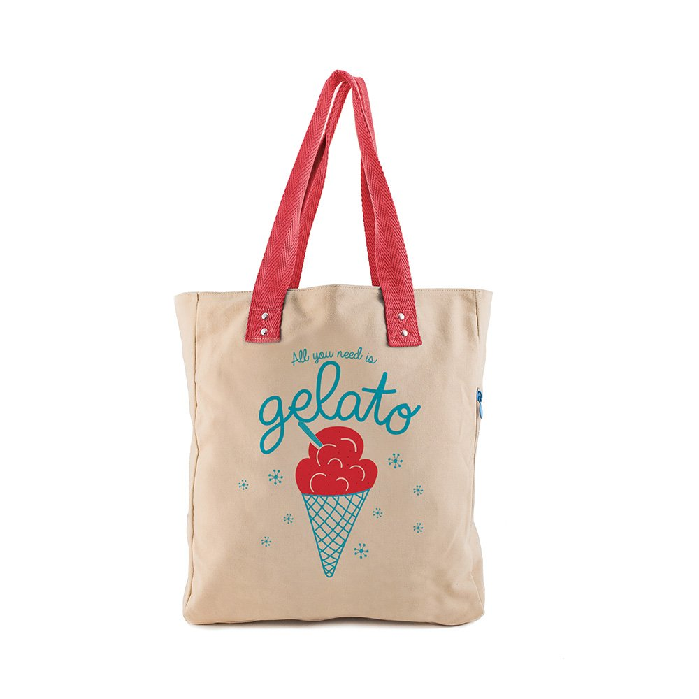Thats Italia Ice Cream Shopper Women in Canvas Multi-Colour
