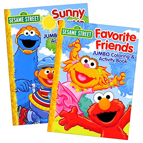Sesame Street Coloring Books for Toddlers Preschool Children Set of 2 96-Page Coloring -