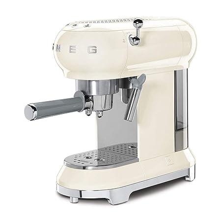 Máquina de café expreso Smeg ECF01RDUK crema