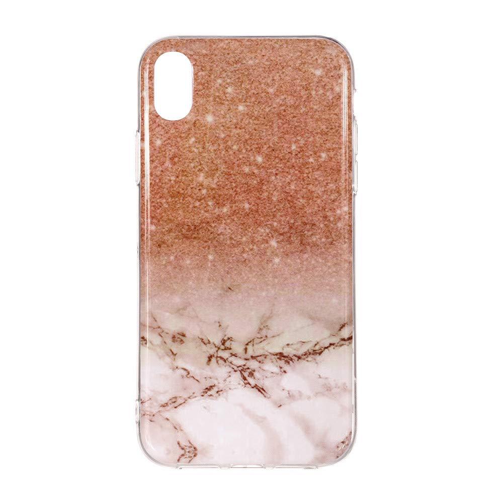 Huhu833 iPhone XR H/ülle Marmor Gedruckt Malerei Muster TPU Telefon Case F/ür iPhone XR 6,1 Zoll