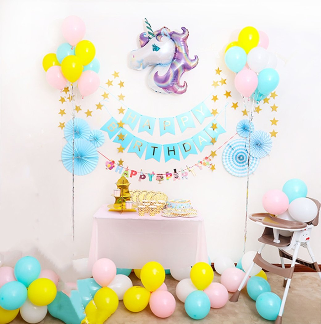 Amazon Jefferson Unicorn Birthday Party Set For Kids Decorations And Supplies Themed Home Kitchen