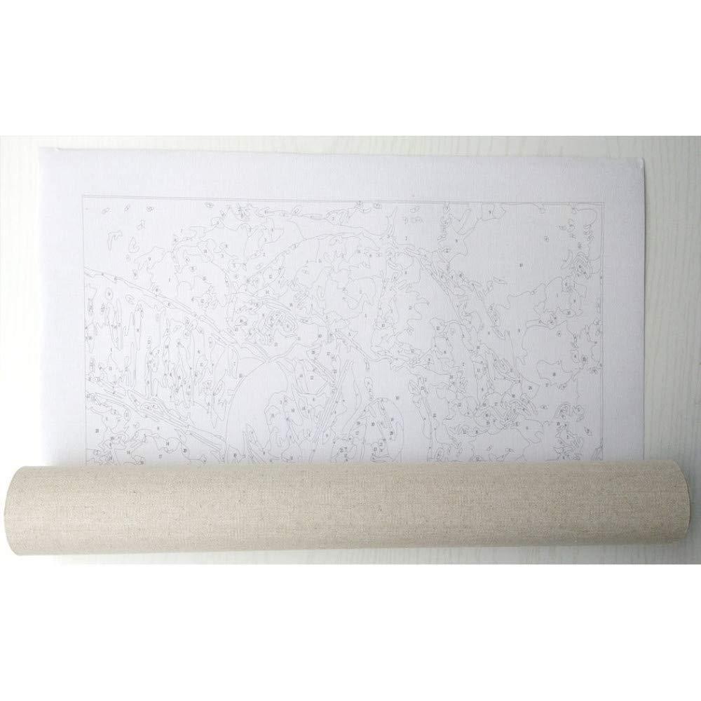 FDDPT Malen nach Zahlen Erwachsene Perlenohrringe Kit DIY Familie Geschenke Hauptdekorationen 40 x 50 cm