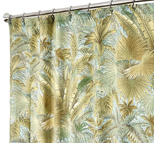 Tropical Shower Curtains Tommy Bahama Fabric Green Bahamian Breeze 72 Inches Delicate
