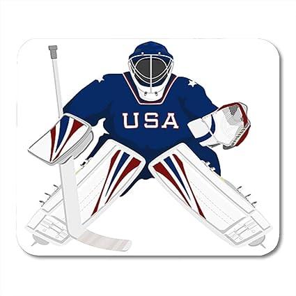 Amazon Com Semtomn Gaming Mouse Pad Ice Team Usa Hockey Goalie
