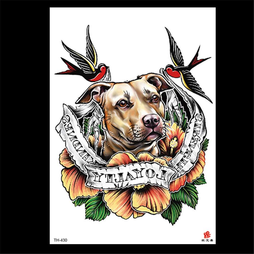zgmtj 2019 Nuevas Pegatinas de Tatuaje de león TH-411 148 * 210MM ...