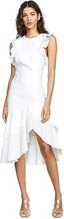 C/MEO COLLECTIVE Women's Ruffle Cap Sleeve Asymmetric Tiered Hem Dress