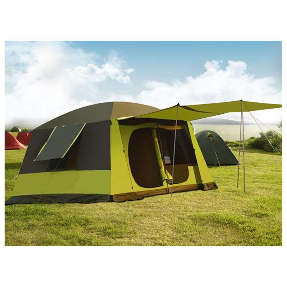 Zelt, Outdoor Zwei Zimmer und EIN Wohnzimmer Zelt 6-8-12 Personen Familie Waterproof Camping Wanderfischer Zelte (400  300  215CM)