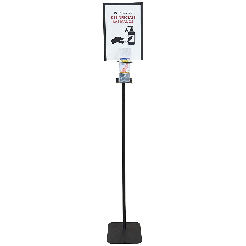 Dispensador de Pie para Gel Hidroalcohólico Desinfectante de Manos para Comercios y Oficinas. 146cm