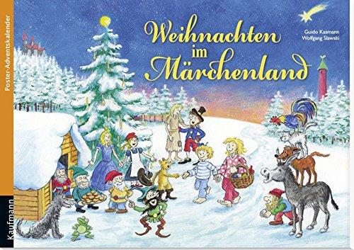 Weihnachten im Märchenland. Ein Poster-Adventskalender zum Vorlesen und Ausschneiden