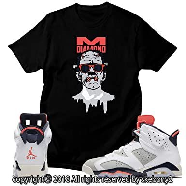 97cd1aef444c Custom T Shirt Matching Style of AIR Jordan 6 Infrared Tinker JD 6 ...