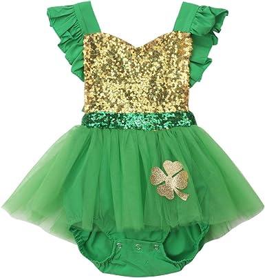 xkwyshop Newborn Infant My First St Patrick/´s Day Baby Boy Outfit Saint Patrick/´s Day Baby Boy Romper 0-12M