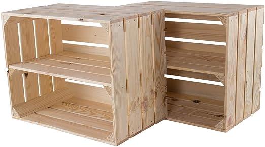 moooble - Caja de Madera con Estante intermedio (50 x 40 x 30 cm ...