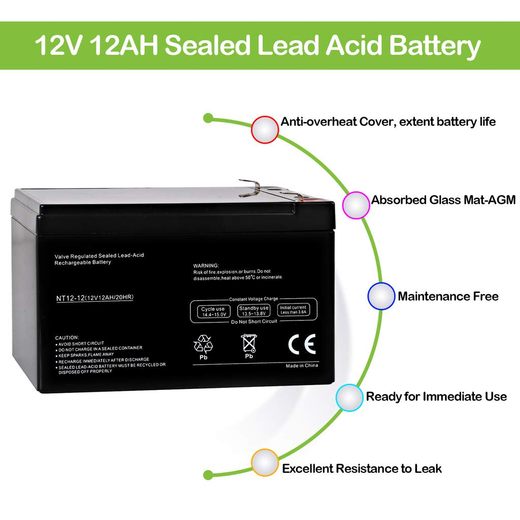 Hykolity 12v 12ah Sla Battery Replacement For Ncr The Circuit Can Be Used To Charge Lead Acid Batteries 40961200 Rbc4 Brand Product Automotive