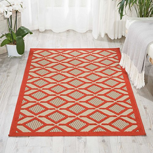 Nourison ALH03 Aloha Red Indoor/Outdoor Area Rug 2'8