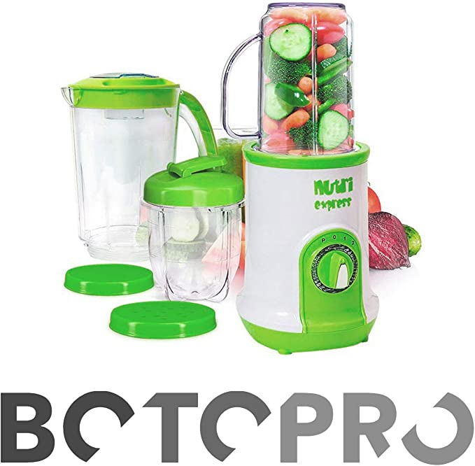 BOTOPRO - NutriExpress, 3 en 1: batidora, picadora y Extractor de ...