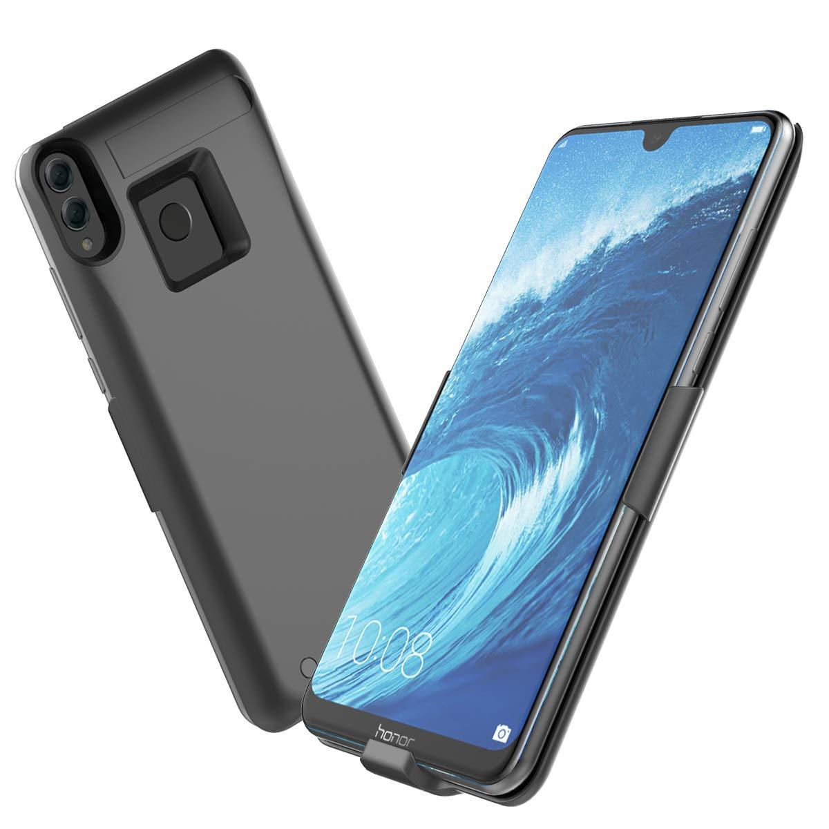 Banath Coque Batterie pour Huawei Honor 8X Max 7500mAh Chargeur Portable Batterie Externe Rechargeable Puissante Power Bank Coque Bleu