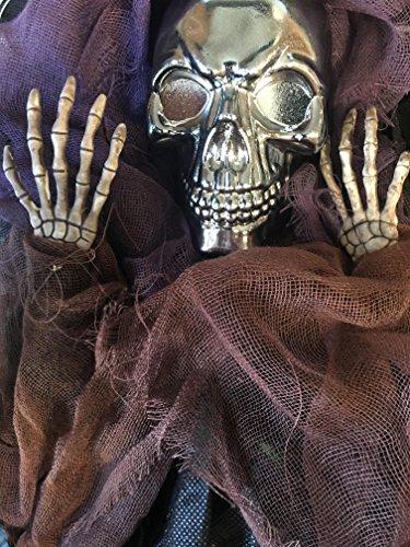 (Chrome Skull Grim Reaper w/Purple and Brown Robe)