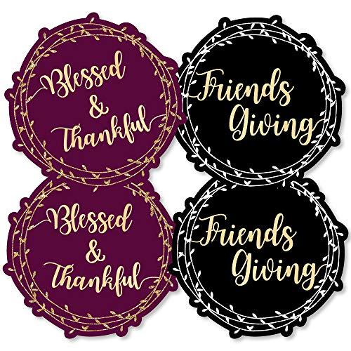 Elegant Thankful for Friends - Wreath Decorations DIY Friendsgiving Thanksgiving Party Essentials - Set of 20