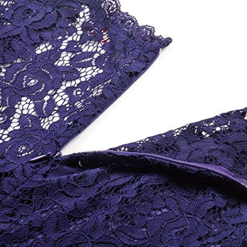 Neck OFTEN Vintage for Chiffon V Bridesmaid Party Dress Sleeveless Night Black Deep Dresses Women Blue Lace Maxi BFrwqzB
