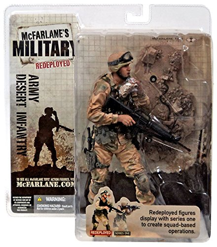 ARMY DESERT INFANTRY * CAUCASIAN VARIATION * McFarlane's Military Redeployed Series 1 Action Figure & Display Base