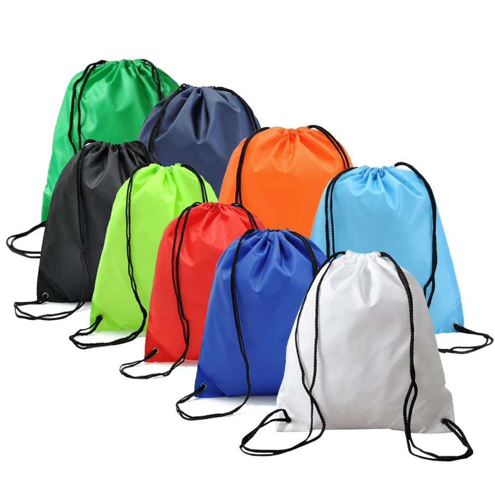 BINGONE Drawstring Bag Folding Backpack Storage Black by BINGONE (Image #8)