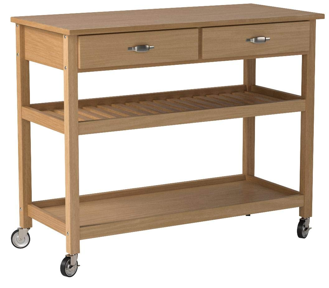 Home Styles Solid Wood Top Kitchen Cart, Natural Finish by Home Styles (Image #4)