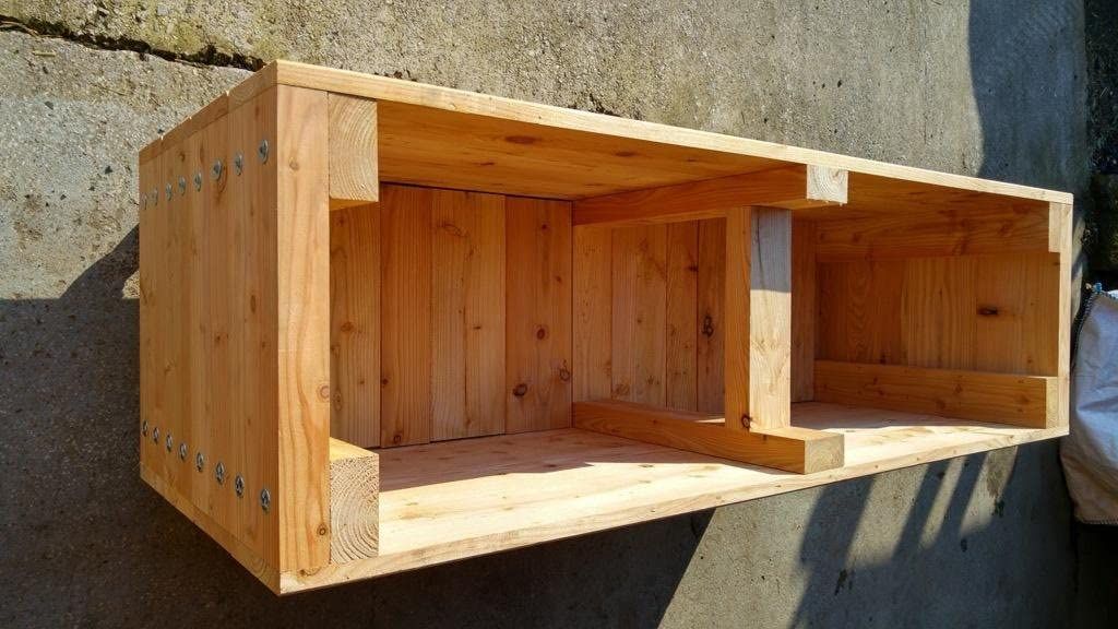 Garden Trough wooden planter 1.45m long x 650mm high x 450mm extra high Now on Castors