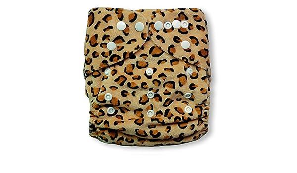 Baby Vivo Pañal de tela de bambú con dos forros reutilizables y tejido de fibra desechable - Leopard: Amazon.es: Bebé