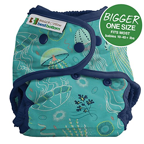 Bigger Best Bottom Cotton Diaper - Snap - Jelly Jubilee - Made In The USA