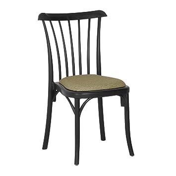 Ggm Möbel Valencia Bistro Terrassen Stuhl Schwarz Sitzkissen