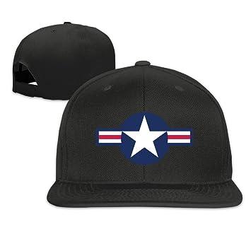 Runy personalizado US Air Force Logo sombrero y gorra de béisbol ajustable, One Size, Negro: Amazon.es: Deportes y aire libre