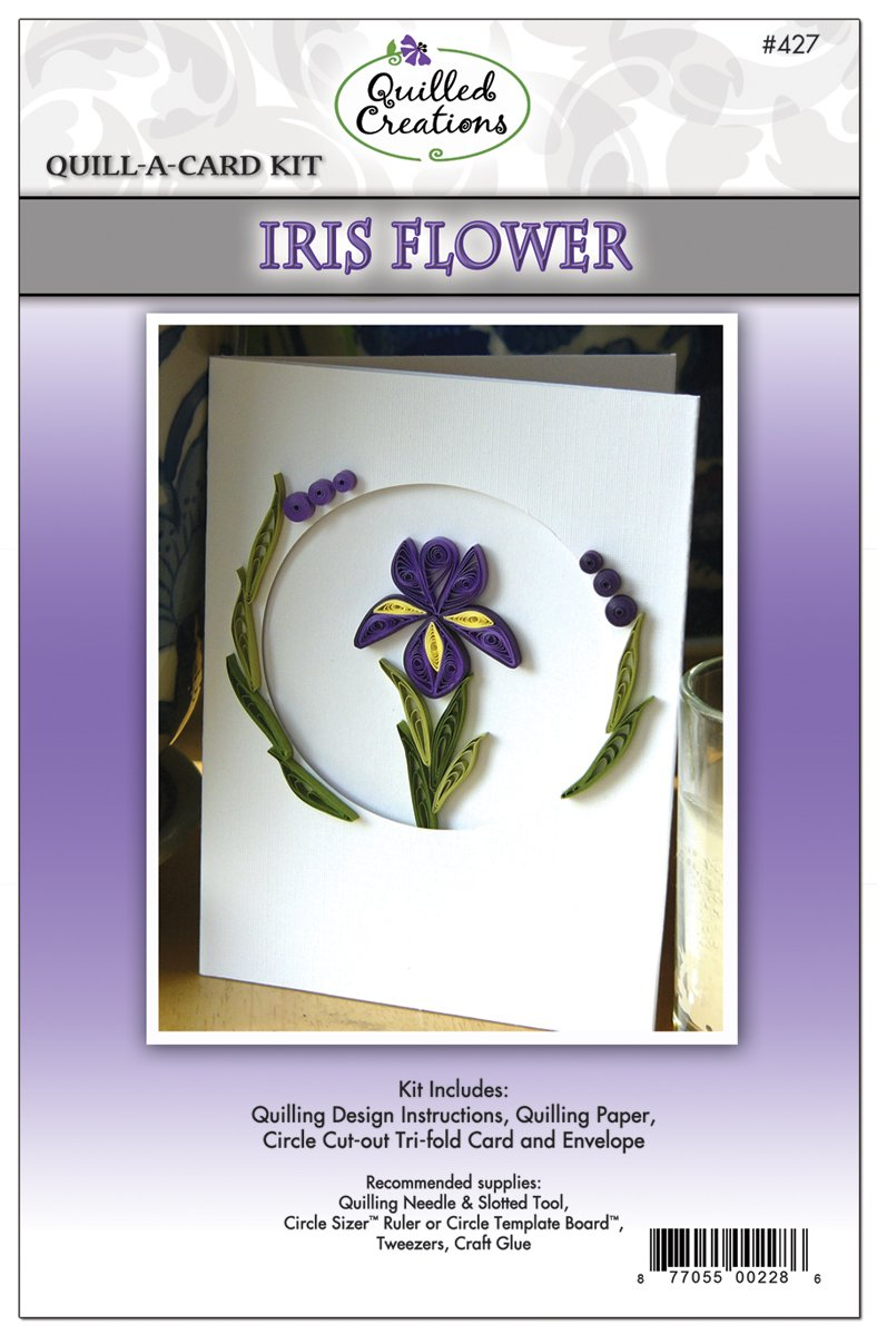 Amazon quilled creations quill a card kit iris flower izmirmasajfo