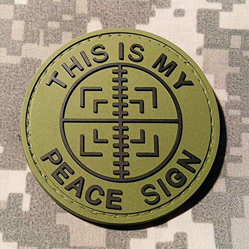 This Is My Peace Sign Pvc Rubber Morale Patch By Neo Tactical Gear Morale Patch   Hook Backed  Od   Black