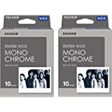 Fujifilm Instant Film 2-PACK BUNDLE SET INSTAX WIDE MONOCHROME WW 1 (10 x 2 = 20 Shoots) for Instax Wide 300 Camera -Japan Import (2-pack)