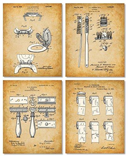 Original Bathroom Patent Art Prints