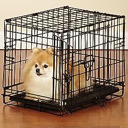 "Easy Dog Crates - Black; X-Small, 18""L x 12½""W x 15""H, Small, 24""L x 17""W x 20""H, Med., 30""L x 19""W x 22""H; Med./Large, 36""L x 22½""W x 25""H; Large, 42""L x 28""W x 31""H; X-Large, 48""L x 30""W x 33""H"