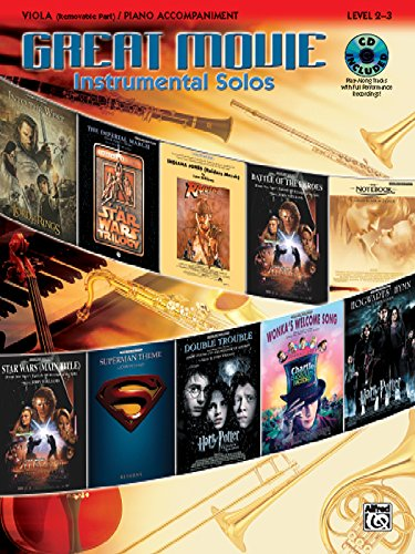 Great Movie Instrumental Solos for Strings: Viola (includes pull-out string part), Book, CD & Instrumental Part