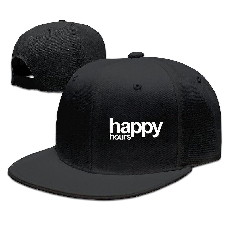 HNN Unisex Happy Hours Flat Baseball Cap Hat