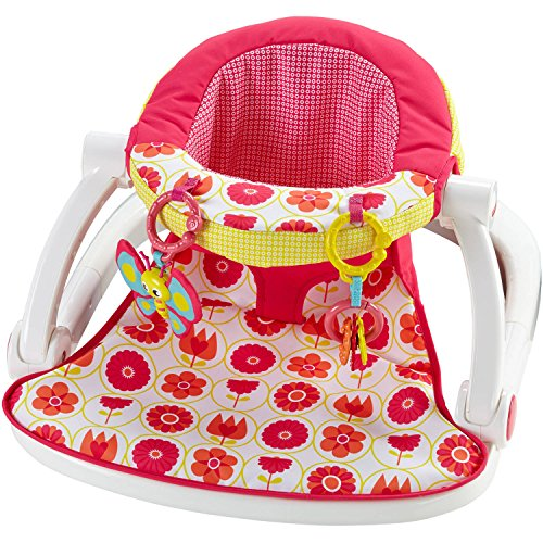 Fisher Price Sit-Me-Up Baby Floor Seat, Pink Floral - Juguetes Fisher Price