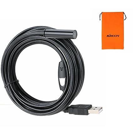 Andoer Endoscopio USB de Inspección Cámara impermeable boroscopio 5M