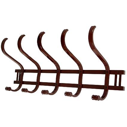 perchero pared madera suska 1020 3575120 perchero madera con cinco ganchos dobles72x31x21cm - Perchero De Madera